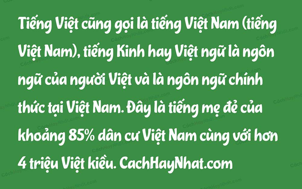 Font SVN Cupcake Việt Hóa