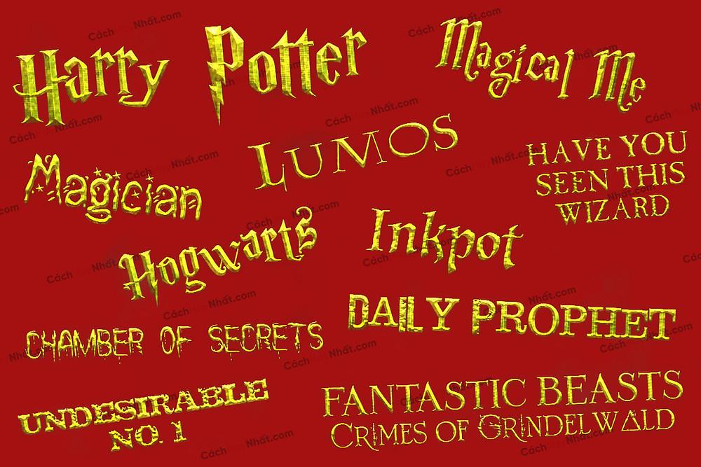 bộ font Harry Potter - Phông chữ Thế giới phù thủy