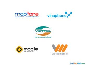Logo Các Hãng Viễn Thông Di Động Tại Việt Nam Mobifone, Vinaphone, Viettel, Gmobile, Vietnamobile