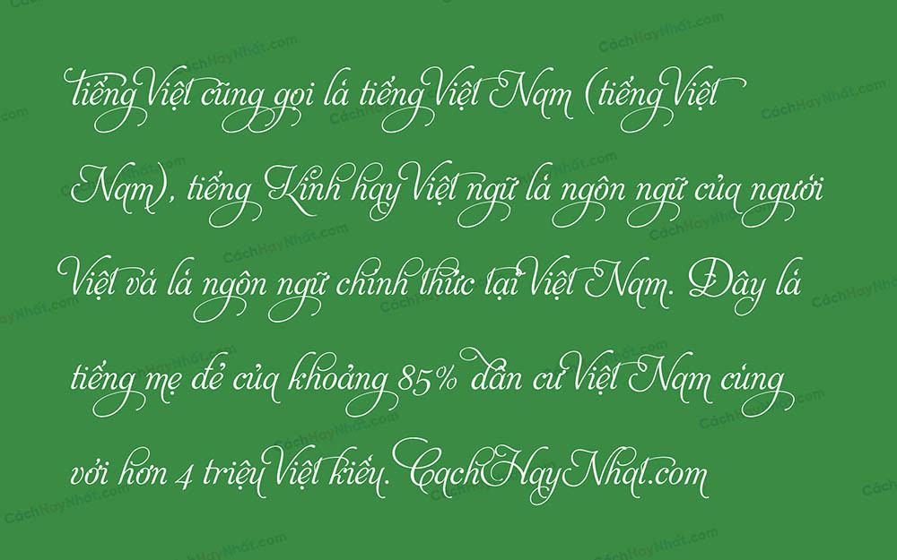 Font UVF Aphrodite Pro Việt Hóa