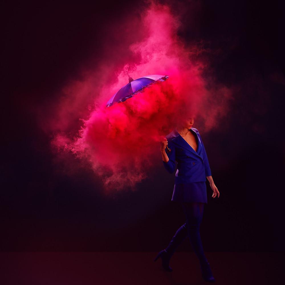Neon quảng cáo thời trang chụp ảnh bởi khói tim tadder
