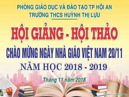 Phông Nền Background Ngày Nhà Giáo Việt Nam 20/11 Vector Corel CDR 10