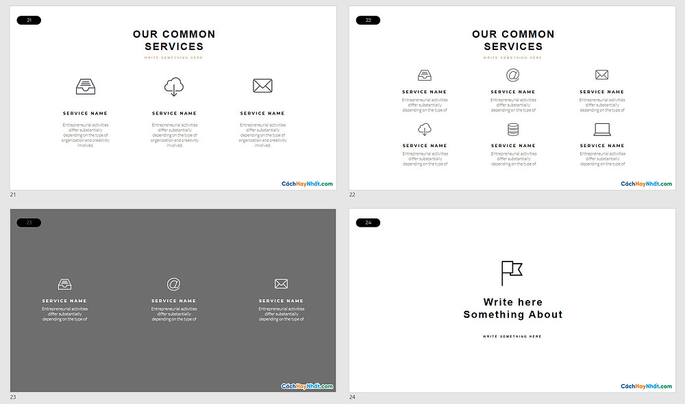 Powerpoint Template Free Air - Minimal Slidedizer Đẹp 10