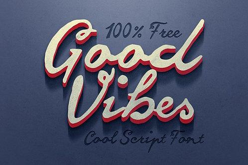 Download Phông Chữ Calligraphy - Good Vibes Font