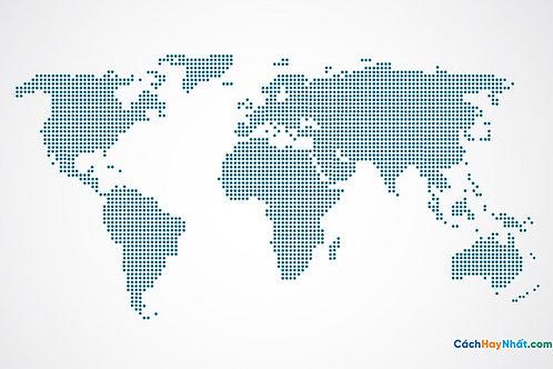 Bản Đồ Thế Giới Model Of World map Points Vector