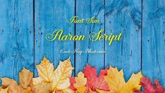 Download Font SVN-Aaron Script Việt Hóa