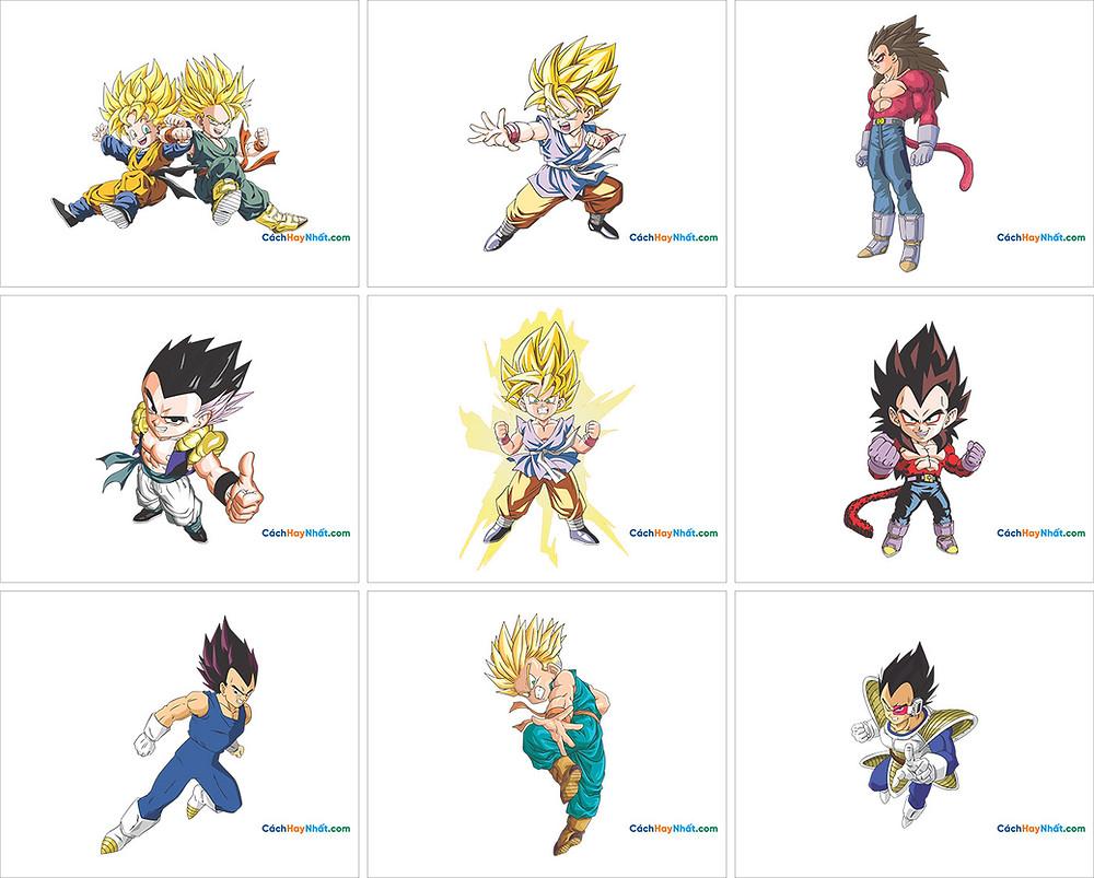 Free Vector Corel PNG 7 Dragon Ball - 7 Viên Ngọc Rồng 04