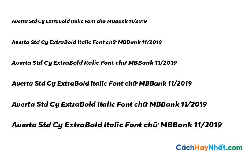 Averta Std Cy ExtraBold Italic Font - MBBank