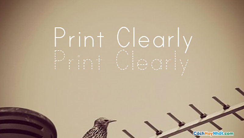 Download Free Font Print Clearly