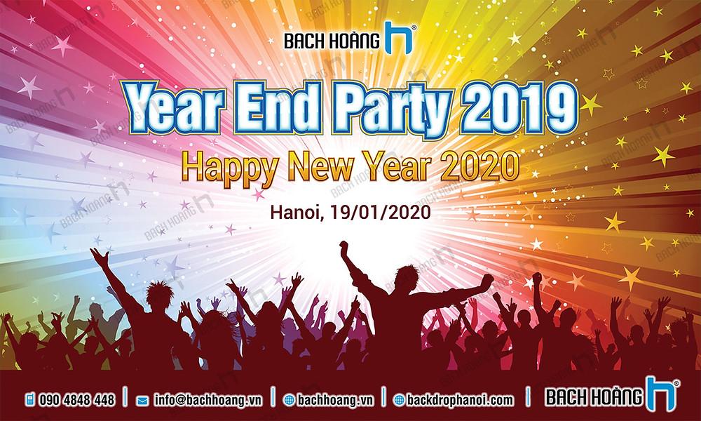 Backdrop Phông Year End Party Đẹp