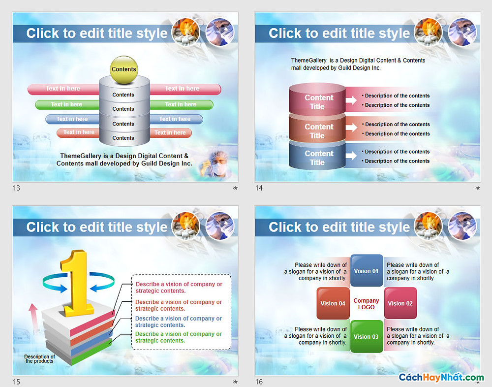 PowerPoint Template 573TGp_research_light_ani