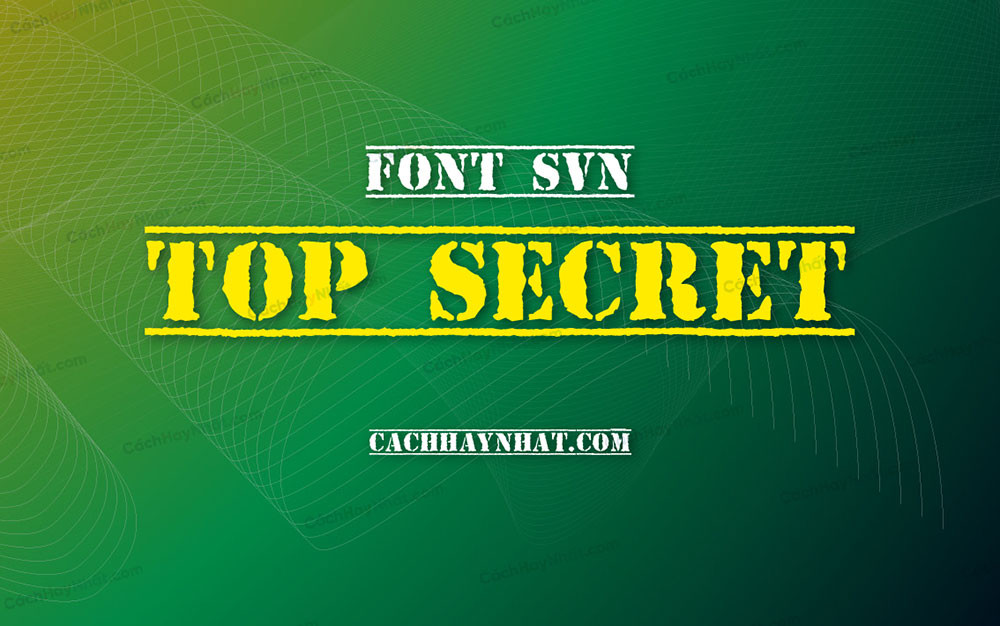 ảnh bìa font SVN Top Secret Việt hóa