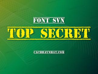 Download font SVN Top Secret Việt hóa