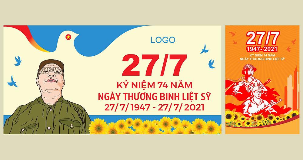 Download Kỷ Niệm Ngày Thương Binh Liệt Sĩ 27/7 File Vector AI