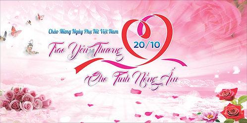 Phông Nền Background Ngày Phụ Nữ Việt Nam 20/10 Vector Corel CDR 11