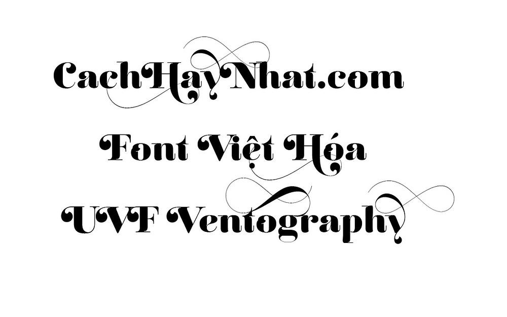 Font Chữ UVF REINA 12 PRO Việt Hóa