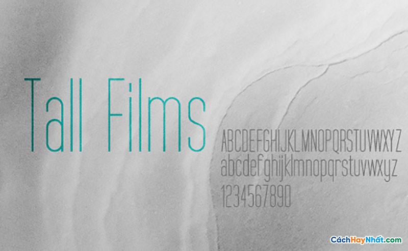 Download Free Font Tall Films