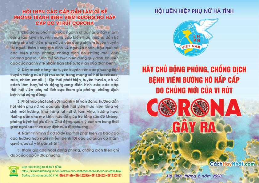 Tờ Rơi, Poster, Pano COVID-19 File Vector Corel 10