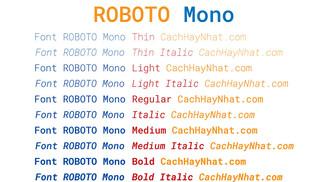 Download Font Roboto Mono Việt Hóa