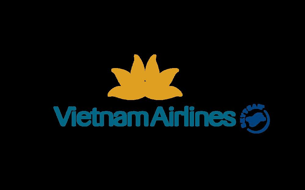 Logo Vietnam Airlines Sky Team - Bố cục dọc PNG