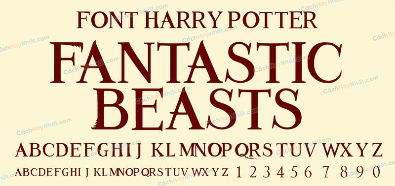 Fantastic Beasts (Animales Fantastic font)