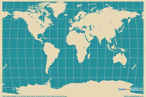 Bản Đồ Thế Giới MACDADDY WORLD Vector