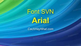 Download Font SVN-Arial Việt Hóa - Phông Chữ Phổ Biến Nhất
