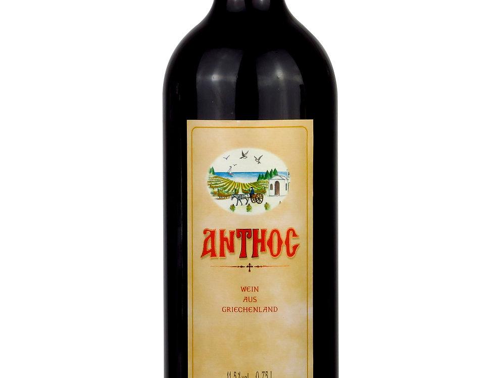 Anthos Rotwein trocken 750ml   8,52 € pro Liter