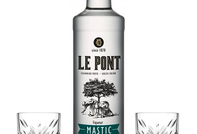 Mastiha Likör 700ml mit 2x Cocktail Gläser 31,41 € pro Liter