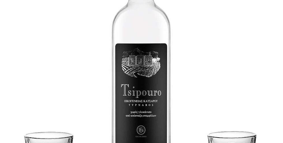 Tsipouro ohne Anis mit 2x Gläser (1x700ml)