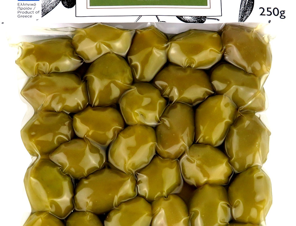 Grüne Oliven Natur in Lake 250g   16,40 € pro Kg