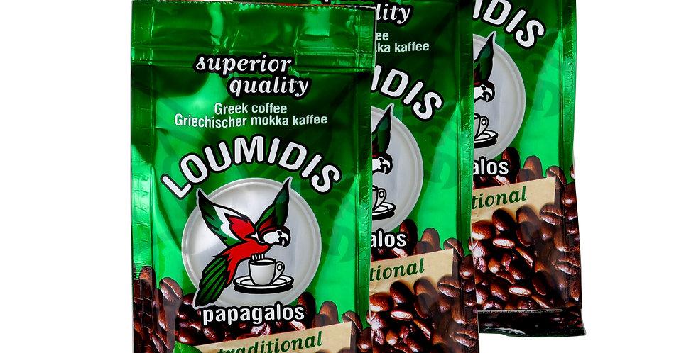 Kaffee Mokka Loumidis 3er Pack (288gr)   25,63 € pro Kg