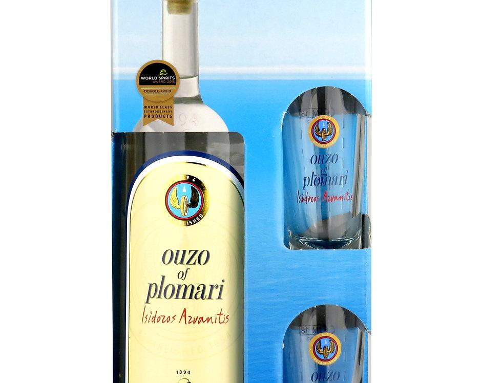 Ouzo Plomari 700ml Geschenk Box  22,84 € pro Liter