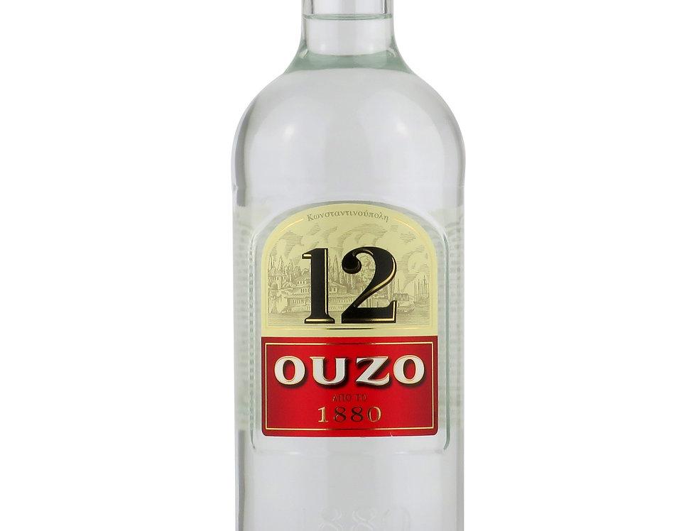 Ouzo 12 Anis - Original - 700ml   16,27 € pro Liter