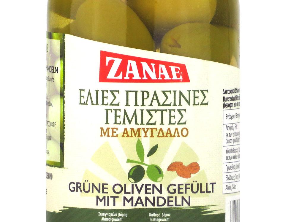 Oliven grün mit Mandeln 200g  17,45€ pro Kg