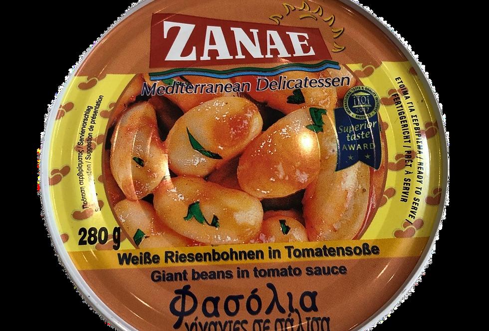Große Bohnen in Tomatensauce 280gr 9,32 € pro Kg