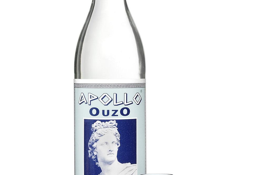 Ouzo Apollo mit Gläser 700ml 17,99€ pro Liter