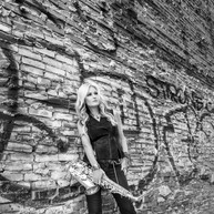 Mindi Abair On The Grafitti Wall B&W