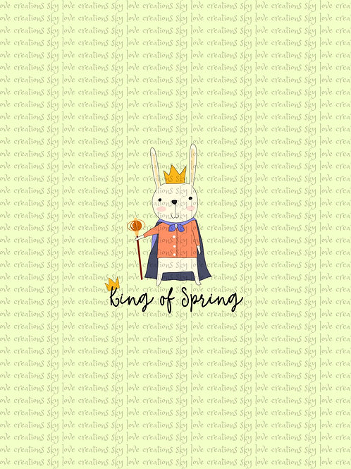 Bunnies, King of Spring child panel in pink CL, clearance
