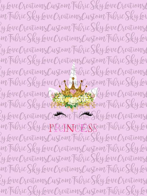 Valentine Unicorn, Princess Panel cotton lycra retail