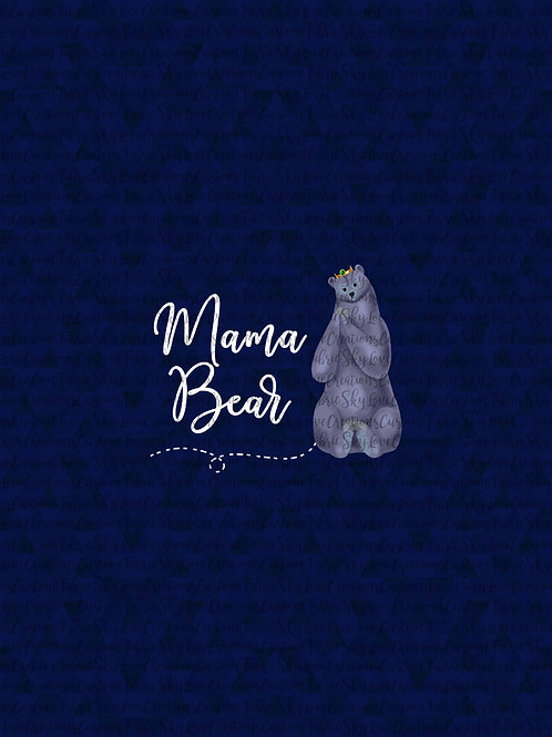 Be Brave, Mama Bear Panel cotton lycra clearance