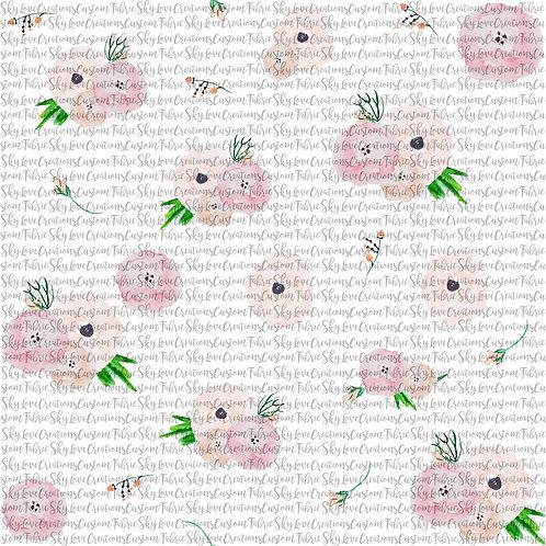 Boho White florals, 2 yard retail