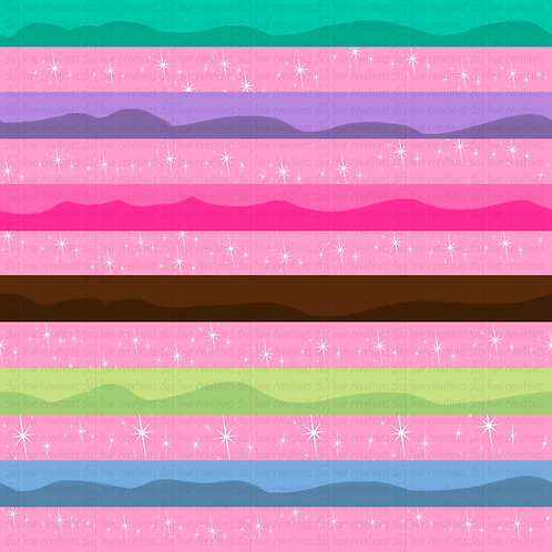 Donuts, stripes in pink:  Coordinates & Oldies Galore Pre-Order