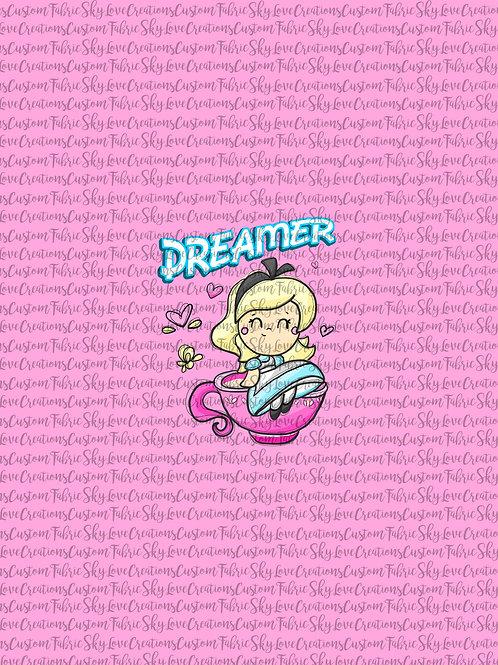 Tea Party, Dreamer, Panel cotton lycra retail