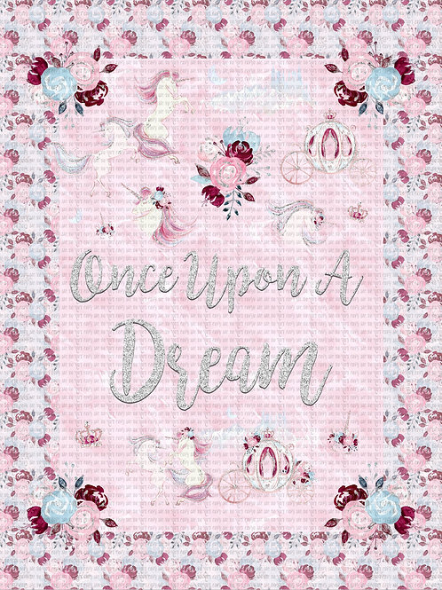 """Uni Tale, Once Upon a Dream Adult Topper, 54""""x72"""", double sided minky clearance"""