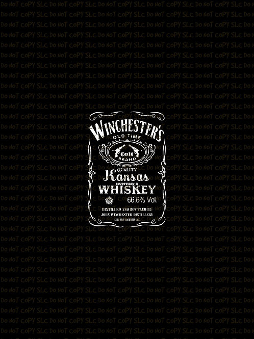 Winchester's Whiskey, Panel, cotton lycra pre order