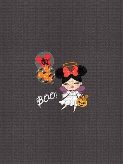 Spooky Mouse, Boo, Panel cotton lycra clearance