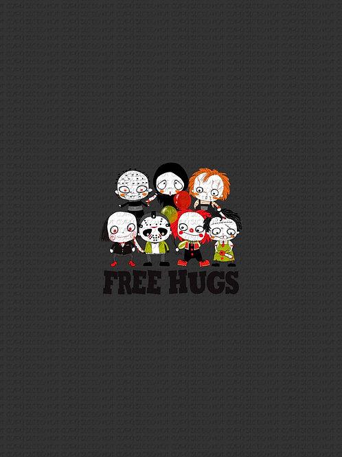 Free Hugs, cotton lycra panel, clearance