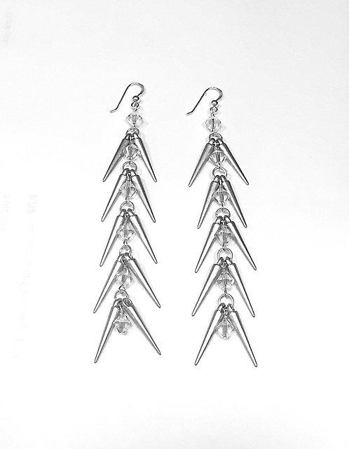 Herringbone Earrings - Silver