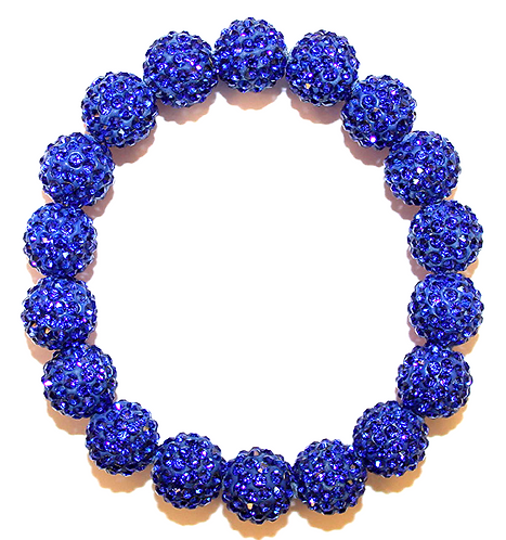 All Pave - Cobalt Blue